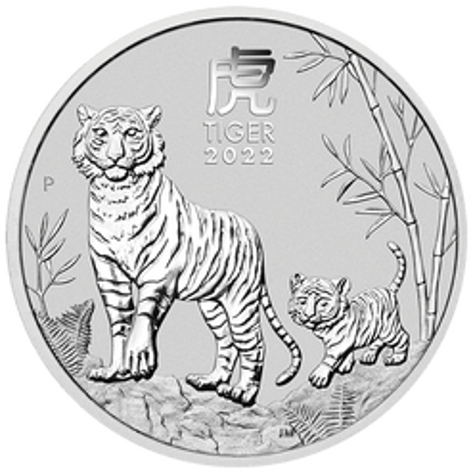 2022 Year of the Tiger 1kg .9999 Silver Bullion Coin – Lunar Series III - 1 Kilo