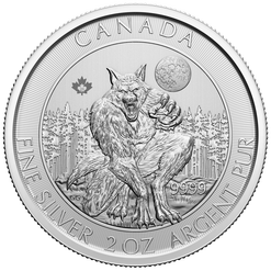 2021 Creatures of the North – Werewolf 2oz .9999 Silver Bullion Coin