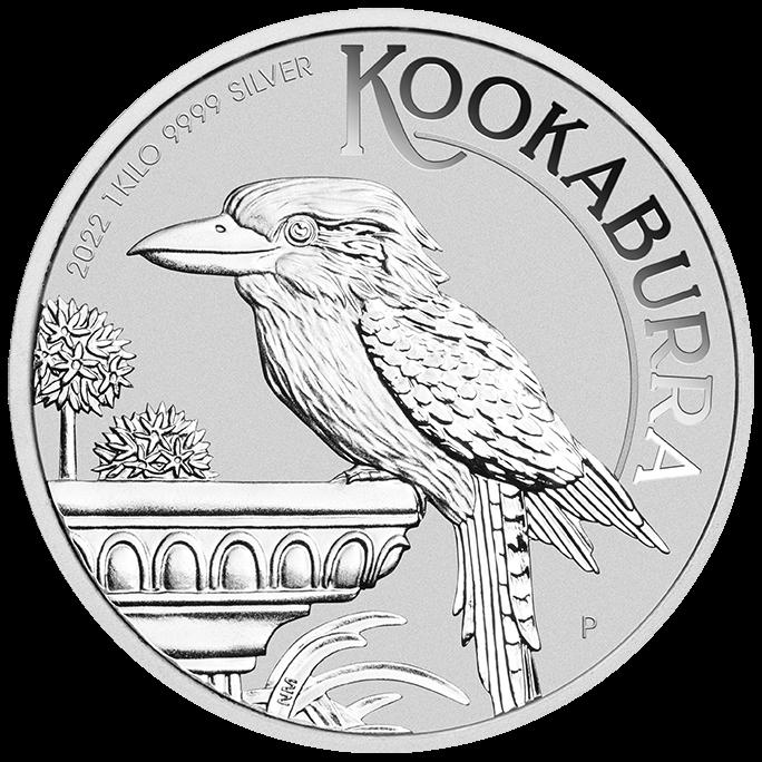 2022 Australian Kookaburra 1kg .9999 Silver Bullion Coin – 1 Kilo